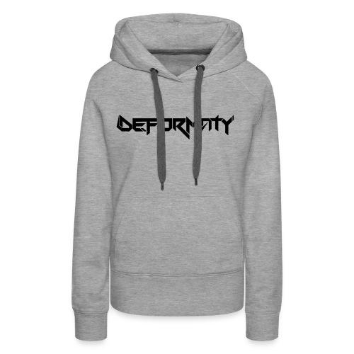 Deformaty Logo Black - Women's Premium Hoodie