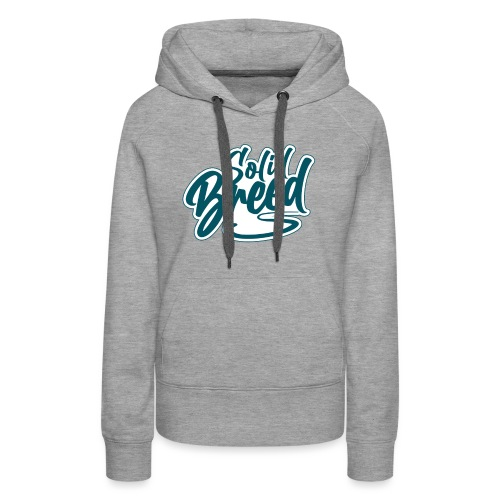 Solid Breed Contemporary Teal Logo - Women's Premium Hoodie