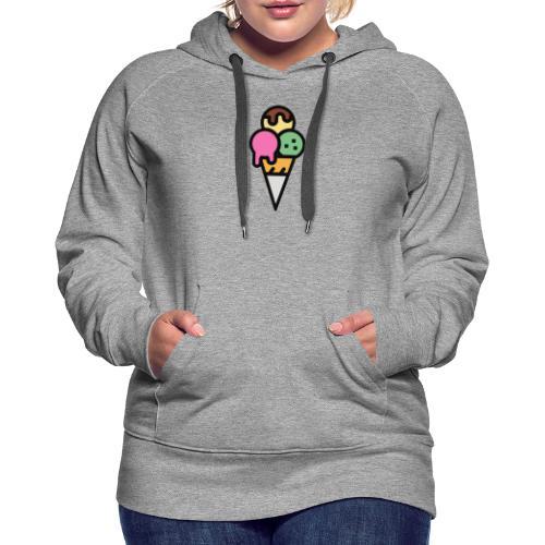 Triple Scoop Cone - Women's Premium Hoodie