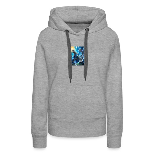 Blue lighting dragom - Women's Premium Hoodie