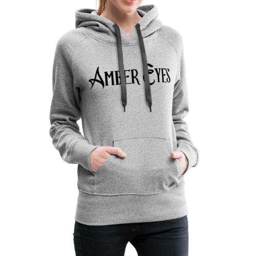 AMBER EYES LOGO IN BLACK - Women's Premium Hoodie