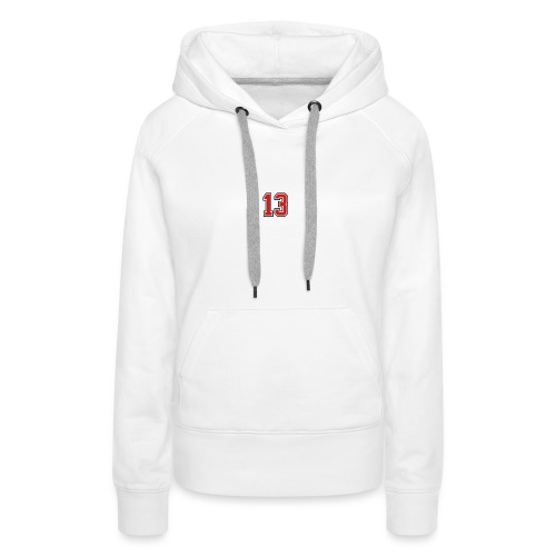 13 sports jersey football number1 - Women's Premium Hoodie