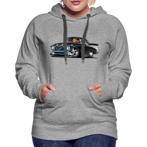 Classic hot rod fifties muscle car - Women's Premium Hoodie