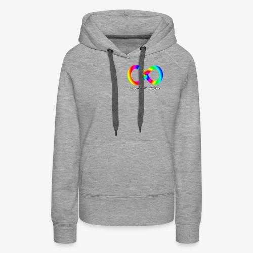 Neurodiversity with Rainbow swirl - Women's Premium Hoodie