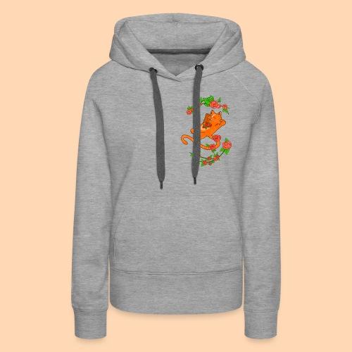 cat of flower - Women's Premium Hoodie