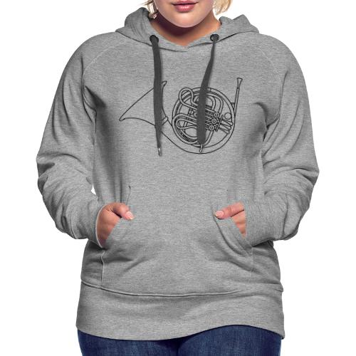 French horn brass - Women's Premium Hoodie