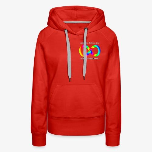 Embrace Neurodiversity with Swirl Rainbow - Women's Premium Hoodie