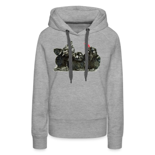 Three Young Crows - Women's Premium Hoodie