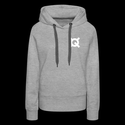 Logo Quantstamp white - Women's Premium Hoodie