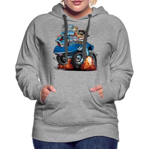 Classic '69 American Sports Car Cartoon - Women's Premium Hoodie