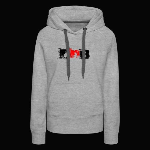 DALEY & BOMBAY LOGO BLACK AND RED - Women's Premium Hoodie