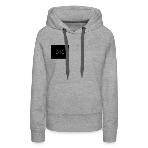 white arrows - Women's Premium Hoodie