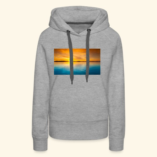Sunrise over water - Women's Premium Hoodie