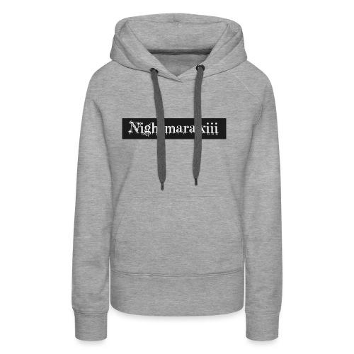 Nightmara logo written - Women's Premium Hoodie