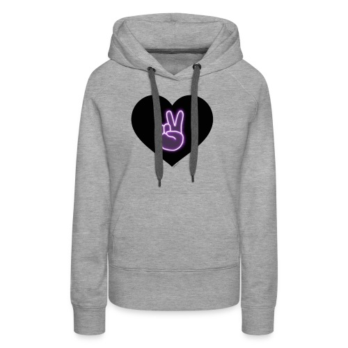 Peace victory Dolan twins sign in a love heart - Women's Premium Hoodie