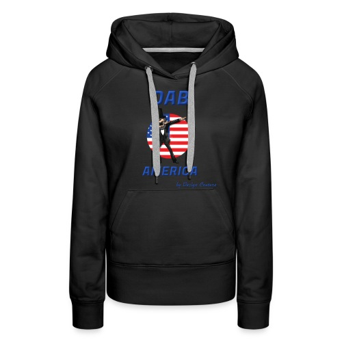 DAB AMERICA BLUE - Women's Premium Hoodie