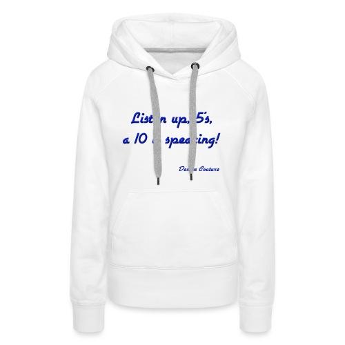 LISTEN UP 5 S BLUE - Women's Premium Hoodie