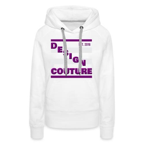 DESIGN COUTURE EST 2016 PURPLE - Women's Premium Hoodie