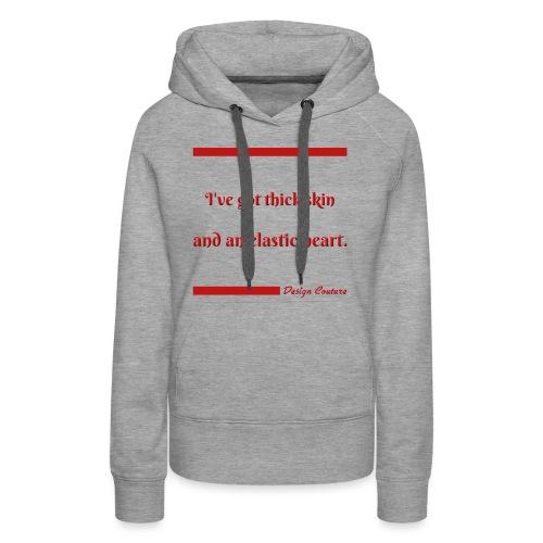 I VE GOT THICK SKIN RED - Women's Premium Hoodie