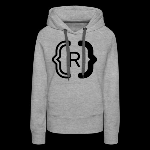 square black reswitched R logo bmx3r - Women's Premium Hoodie