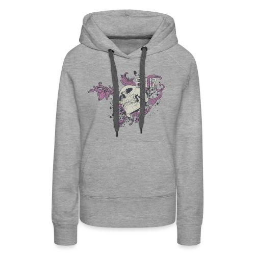 Ornamental Skull Bandana - Women's Premium Hoodie