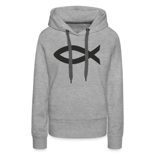 Christian fish symbol - Women's Premium Hoodie