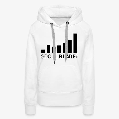 Socialblade (Dark) - Women's Premium Hoodie