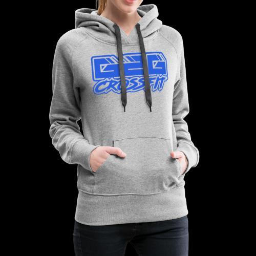 G2G CrossFit Blue Half Logo - Women's Premium Hoodie