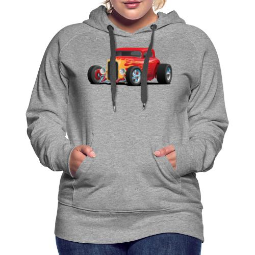 Classic Bold Red Custom Street Rod - Women's Premium Hoodie