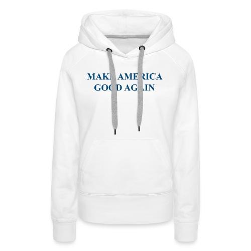 MAGOOA navy blue - Women's Premium Hoodie