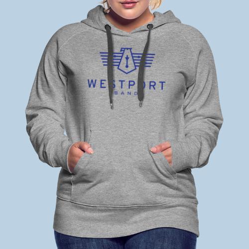 Westport Band Blue on transparent - Women's Premium Hoodie