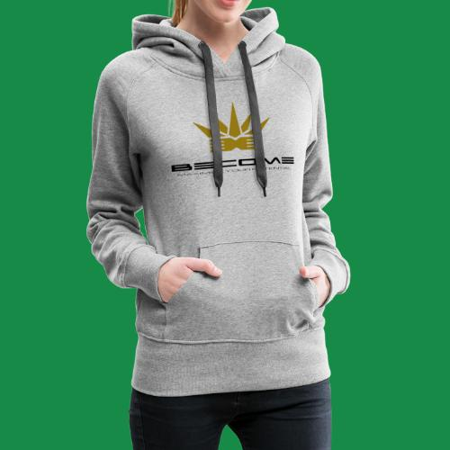 makare BLACK w Gold crown - Women's Premium Hoodie