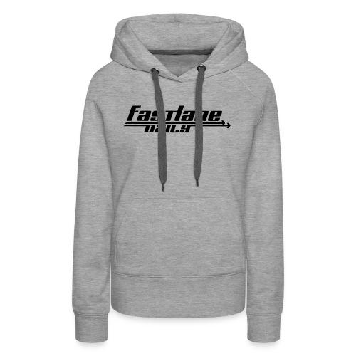 Fast Lane Daily logo - Women's Premium Hoodie