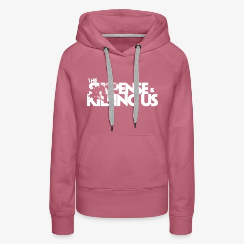 Suspense Is Killing Us White Logo - Women's Premium Hoodie