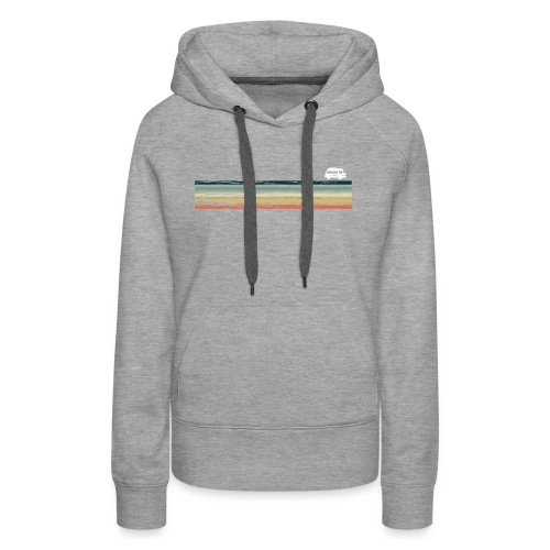 Retro Van Life Bus - Explore The Great Outdoors - Women's Premium Hoodie