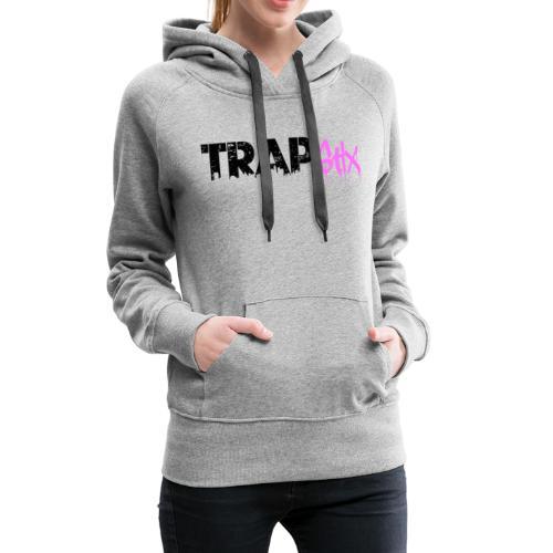 TRAPSTIX LOGO (Black x Pink) - Women's Premium Hoodie