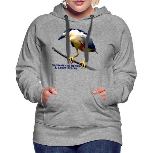 Black crowned Night Heron - Women's Premium Hoodie