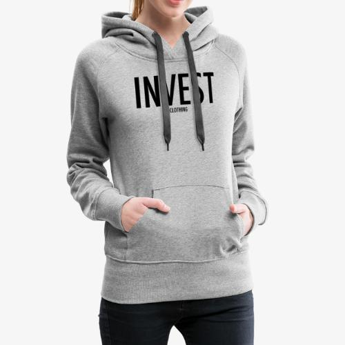 invest clothing black text - Women's Premium Hoodie