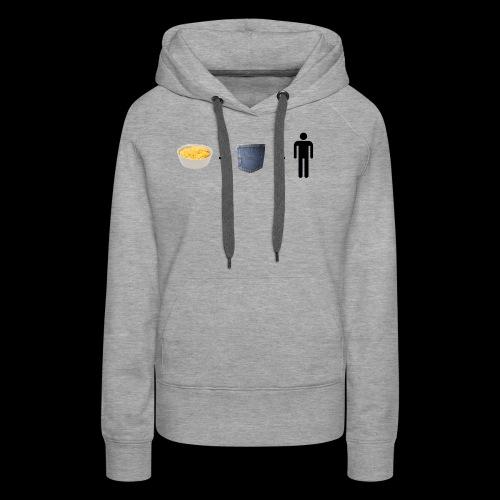 Macaroni Pocket Man Shirt - Women's Premium Hoodie