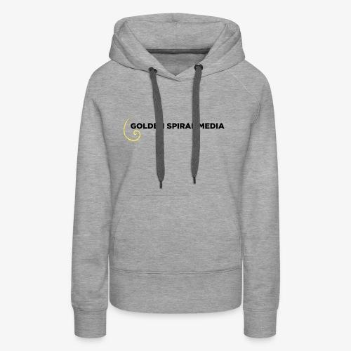 Golden Spiral Media Black Logo - Women's Premium Hoodie