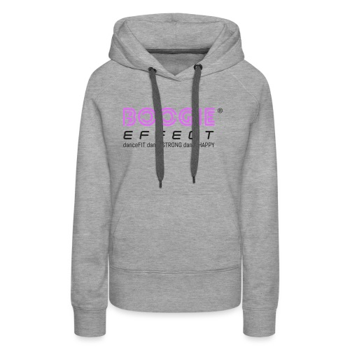 boogie effect fit strong happy logo black - Women's Premium Hoodie