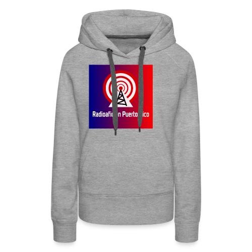 LOGO de radioaficionpr logoazulyrojo2 - Women's Premium Hoodie