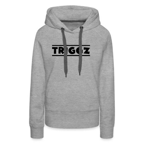 Triggz s Shirt Logo Black with Lines - Women's Premium Hoodie