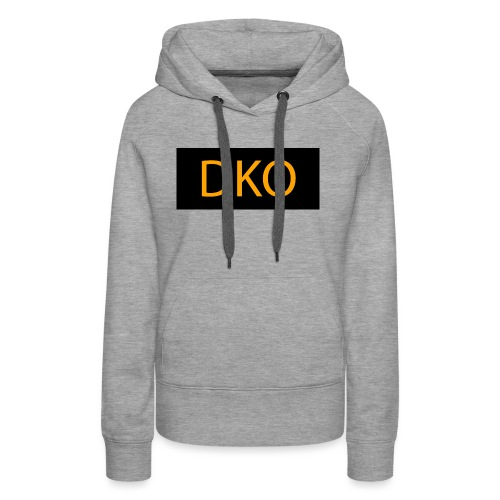 DKO orange and black - Women's Premium Hoodie