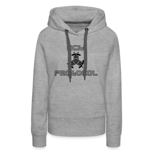 ACID PROTOCOL OFFICIAL LOGO BLACK - Women's Premium Hoodie