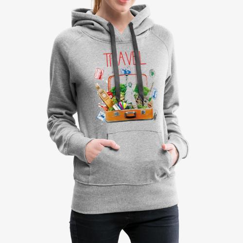 TRAVEL T-SHIRT - Women's Premium Hoodie