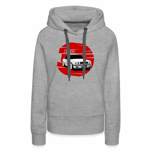 Bimmer e30 red background - Women's Premium Hoodie