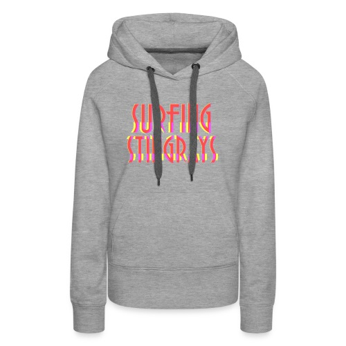 Surfing stingrays logo - Women's Premium Hoodie