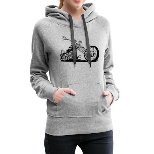 Custom American Chopper Motorcycle - Women's Premium Hoodie