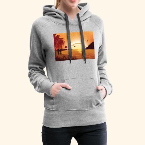 Rainy Beach - Women's Premium Hoodie